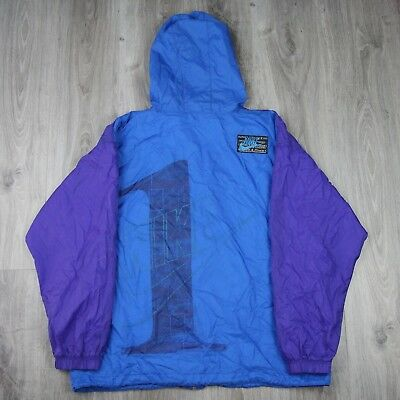 Mens Vintage 90s Nike Spell Out Sports Fitness Windbreaker Jacket Track Shell XL