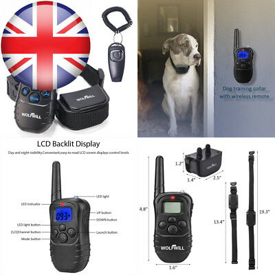 WOLFWILL Remote Pet Dog Training Collar,300 Yards Rechargeable & Waterproof...