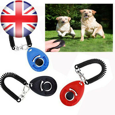 Pet Dog Training Clicker Big Button clicker with wrist band Strip for...