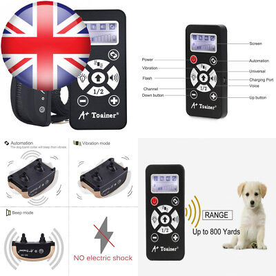 Dog Training Collar with Remote, Rechargeable Waterproof Bark Automation...