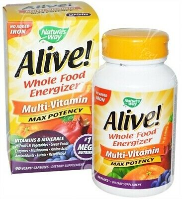 Alive Multi-vitamines & minéraux avec no-added fer x90vcaps - Aliment complet