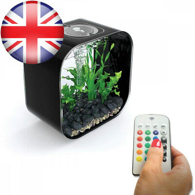BiOrb LIFE 30L Black Aquarium Fish Tank with Multi Colour LED Lighting