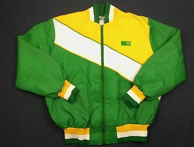 BP Gas Station Coloblock Lined Jacket Vintage RARE SUPER NICE (F1)