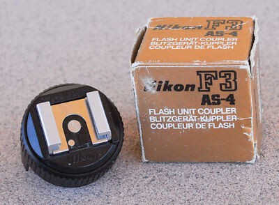 Nikon AS-4 Flash Unit Hot Shoe Coupler in box for F3 F3HP F3T AS4 EXC+