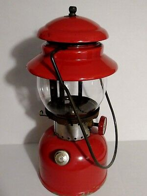 VINTAGE 1960s Red COLEMAN #200 T-66 Camping Lantern The Sunshine of the Night