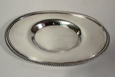 """Poole Silver Co. EPNS Electro Plated Nickel Silver 8"""" Oval Tray"""