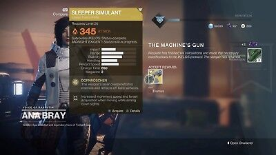 Destiny 2: Sleeper Simulant Guaranteed Weapon Grind - PS4/Xbox Recovery