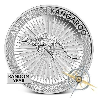 Australia 1 oz .9999 Fine Silver Kangaroo Coin Random Date (Our Choice) - Gem BU