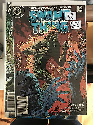 SWAMP THING #42 VF 1st Print CANADIAN PRICE VARIANT Newsstand ALAN MOORE