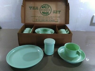 Rare Nally Ware Utility Tea Set In Original Box
