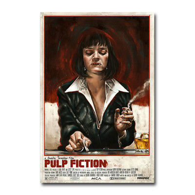 Pulp Fiction Classic Movie Art Silk Fabric Poster Canvas Print 12x18 24x36 inch