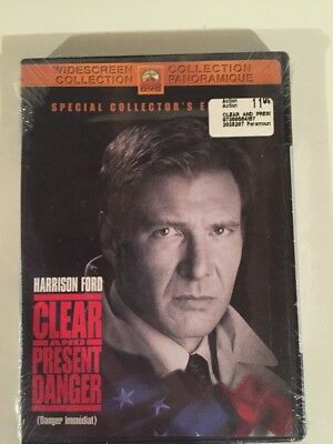 Clear and Present Danger (DVD, 2002) NEW! CIA Colombian Drug Cartels