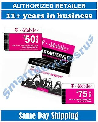 T-Mobile  PRELOADED SIM CARD with $50 $75 1 or 2 Month Plan ++++BEST PRICE +++++