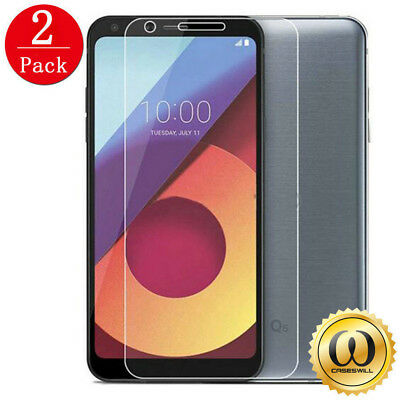 2x 100% Genuine Tempered Glass Film Screen Protector Protective For LG Q6 G6