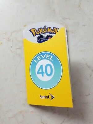 New Sprint POKEMON GO Level 40 Trainer Badge Unused Limited Edition