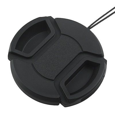 72mm Center Pinch Snap-on Front Lens Cap Hood Cover For Canon Lens With Strap