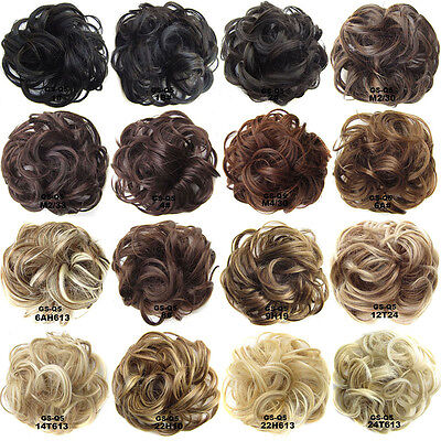 Synthetic Hair Flexible Scrunchie Wrap For Wave Curly Hair Bun Ponytail.44Color