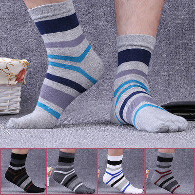 5 pairs Men's Cotton Five Finger Toe Socks Breathable Comfort Thermal Size 7-11