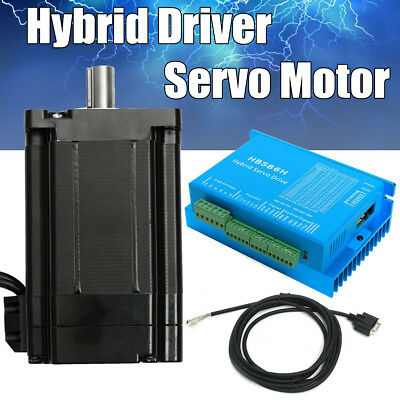 8.5-12N.m  CNC HSS86 Hybrid Driver & NEMA34 Servo Motor 86 Stepper Closed Loop