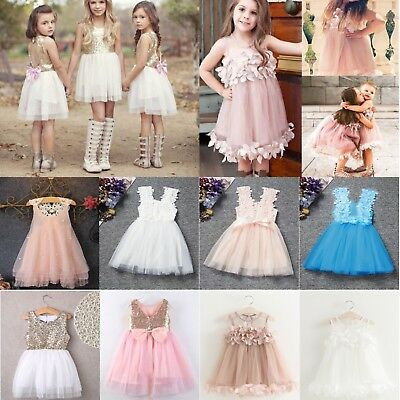 Baby Flower Girls Princess Dresses Party Pageant Wedding Bridesmaid Tutu Dress