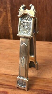 Rare Antique Brass Nut Cracker In The Form Of A Long Case Grandfather Clock