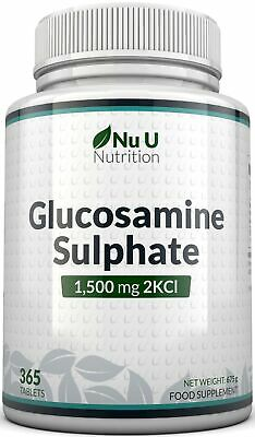 Glucosamine Sulphate 1500 mg 2KCl, 365 Tablets (1 Year Supply) | High Strength