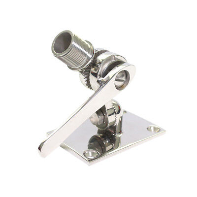 Heavy duty Stainless Steel Boat VHF Antenna Dual Axis Adjustable Base Mount