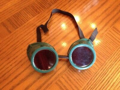 Excellent Vintage Safety Goggles glasses Welding Steampunk Motorcycle