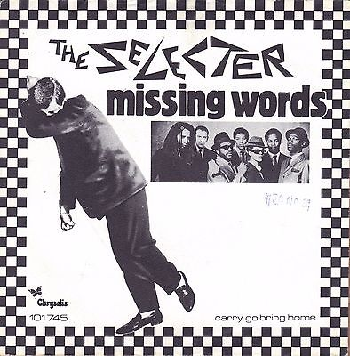 "7"" Selecter – Missing Words / SKA / Chrysalis Green // Dutch 1980"