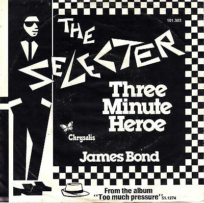"7"" Selecter – Three Minute Heroe / James Bond // Dutch 1980"