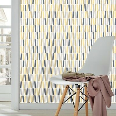 Yellow and Grey Geometric Sticks Wallpaper - Modern Design 18191-30