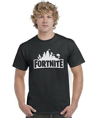 Fortnite Logo Kids Unisex T-Shirt Tee Top Gaming PS4 XBox (White Print)