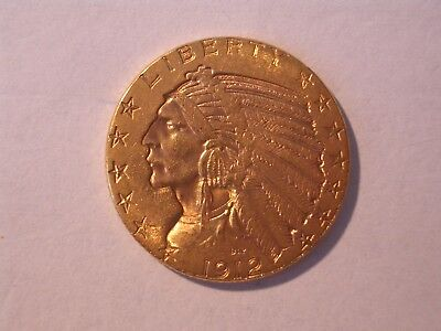 5 Dollars 1912. Indian Head. Tolle Erhaltung!