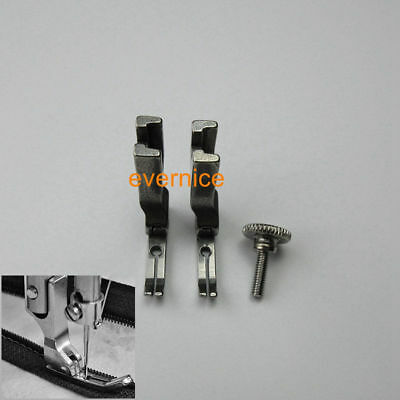 2 PCS SPLIT HINGED ZIPPER FOOT for JANOME 1600P INDUSTRIAL SEWING MACHINE