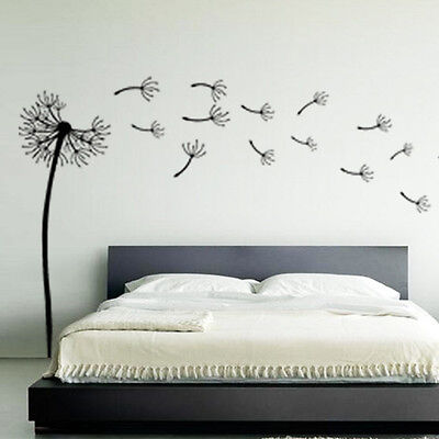 Dandelion Flower Wind Blowing Floral Wall Art Sticker Stickers Decal Vinyl 2