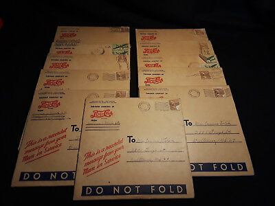 Vintage Lot Of 11 Recorded Message From Your Man In Service courtesy Pepsi Cola.