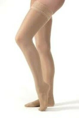 Jobst UltraSheer 15-20 mmHg Thigh High Compression Stockings with Silicone Lace