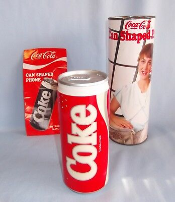 Vintage 1985 Coca-Cola Can Shaped Electronic Phone Model 5010 NO CORD