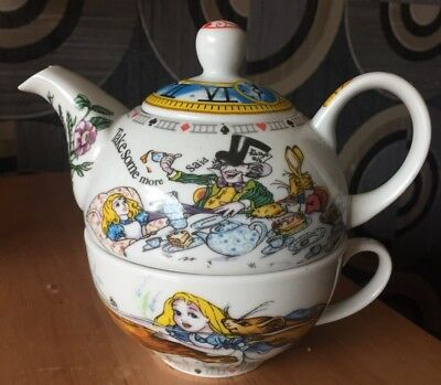 Alice In Wonderland Tea For One Paul Cardew Tea Pot & Cup, Gift, Collectible