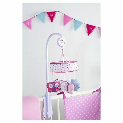 NEW Red Kite Pretty Kitty Musical Baby Cot Mobile - Pink