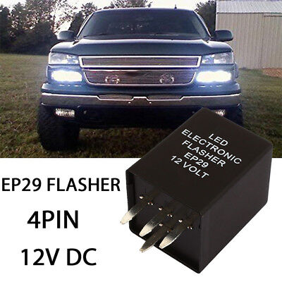 Fix Turn Signal Lamps Motorcycle Hyper Flasher Relay Durable EP29 20A