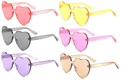 a7a9c522bc RIMLESS ONE PIECE PC Lens Ultra-Bold Colorful Mono Block Round .