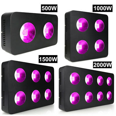 COB 500/1000/1500/2000W LED Grow Light Lamp Full Spectrum for Indoor Plant Bloom