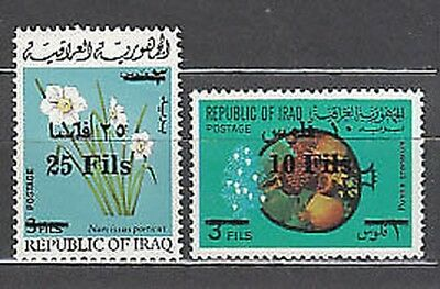 Iraq - Mail Yvert 740/1 Mnh Flowers