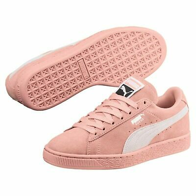 2138d630644 355462-59  WOMENS PUMA Suede Classic Sneakers - Beige Grey White ...