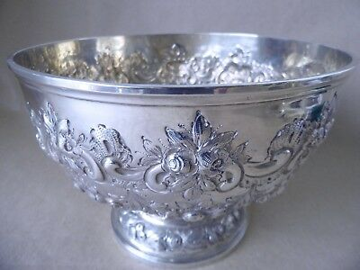 Gorgeous Large Victorian Sterling Silver Fruit Bowl London 1898, 400 Grams
