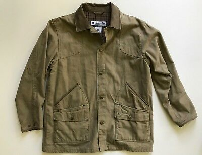 NWT Columbia River Lodge Field Jacket Coat w Soft Leather Collar LARGE MENS Canv