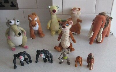 Ice Age 1 2 3 4 Sid Manny Diego Hyrax Scrat Buck Soft Toys & Plastic Pirate Toys