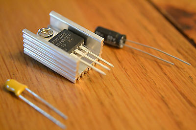 LM2940T LM2940CT TO-220 LDO regulator with & without heatsink & 22uf .47uf caps