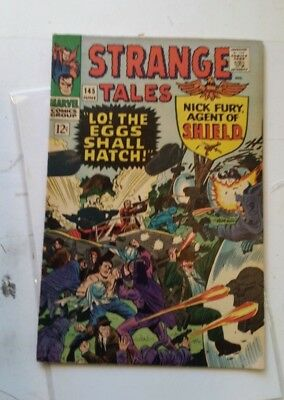 Strange Tales #145 1966 Dr. Nick Fury Agent of Shield ditko kirby lo the eggs !!